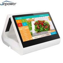 LCD display dual wide screen touch retail grocery store cash register android system checkout counter pos equipment device