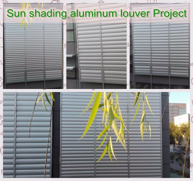 Fixed Motorized Louvers Aluminum Louver Frame System View