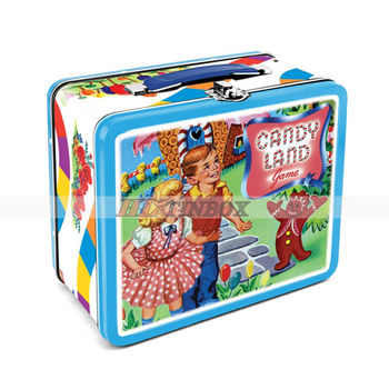 Rectangular Custom Metal Lunch Tin Box