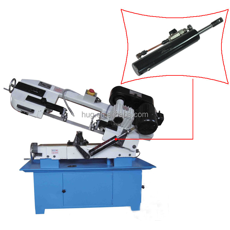 Professional manual band saw single acting lift hydraulic cylinder