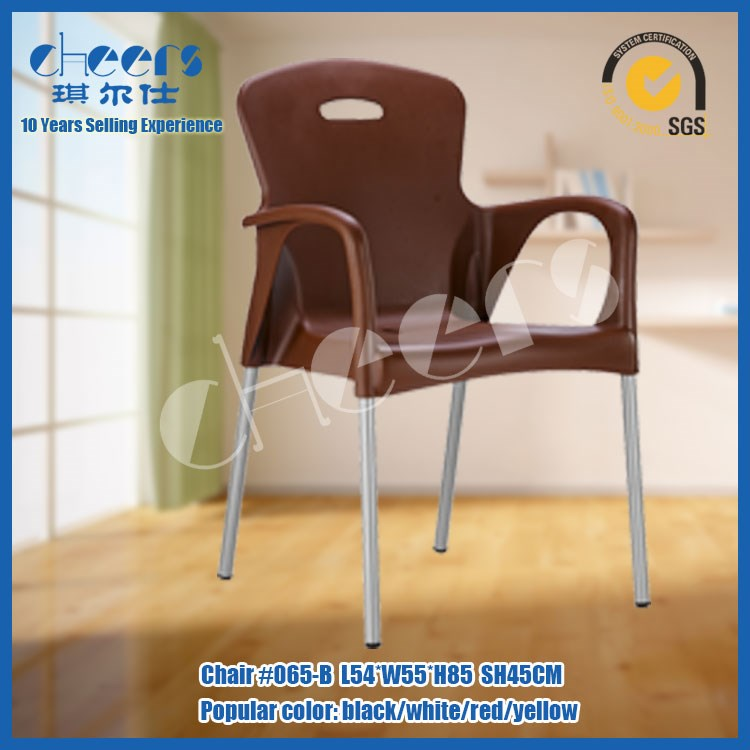 Restaurant or hotel beautiful appearance franch dining chair /armrest plastic chairs