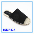 Top selling jute sole espadrilles women slipper shoes
