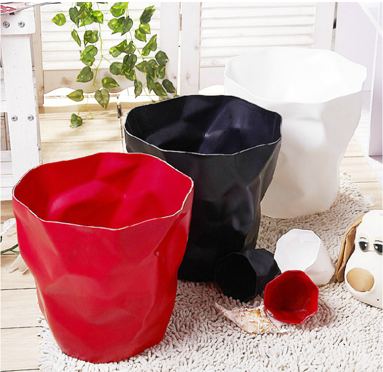 John brauer designed office wastepaper baskets folding waste bin buy small plastic waste bins - Collapsible waste basket ...