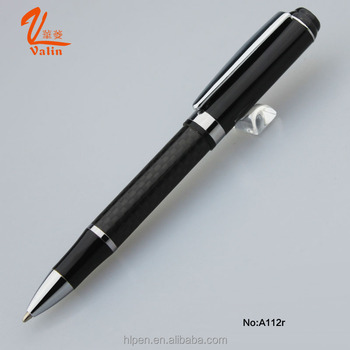 Nice gift heavy design metal ball pen carbon fiber pen