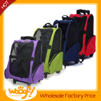Hot selling pet dog products high quality pet carrier on wheels