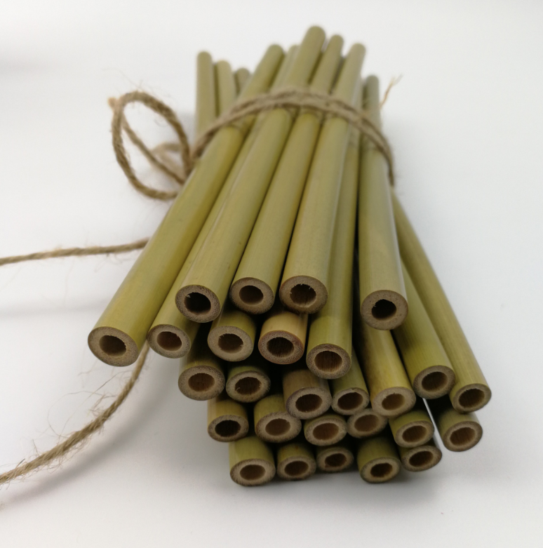 100% Natural Biodegradable Reusable fiber straw bamboo