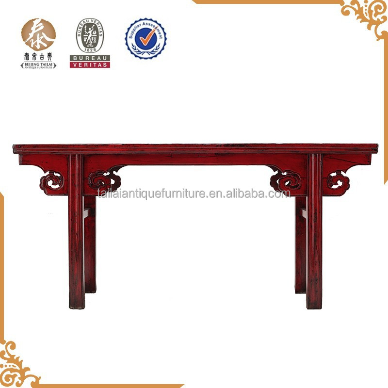 2015 Reproduction red antique Console Tables