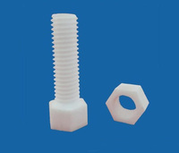 Aluminum Oxide Ceramic Screws With Pan Head Slotted/ Socket Cap