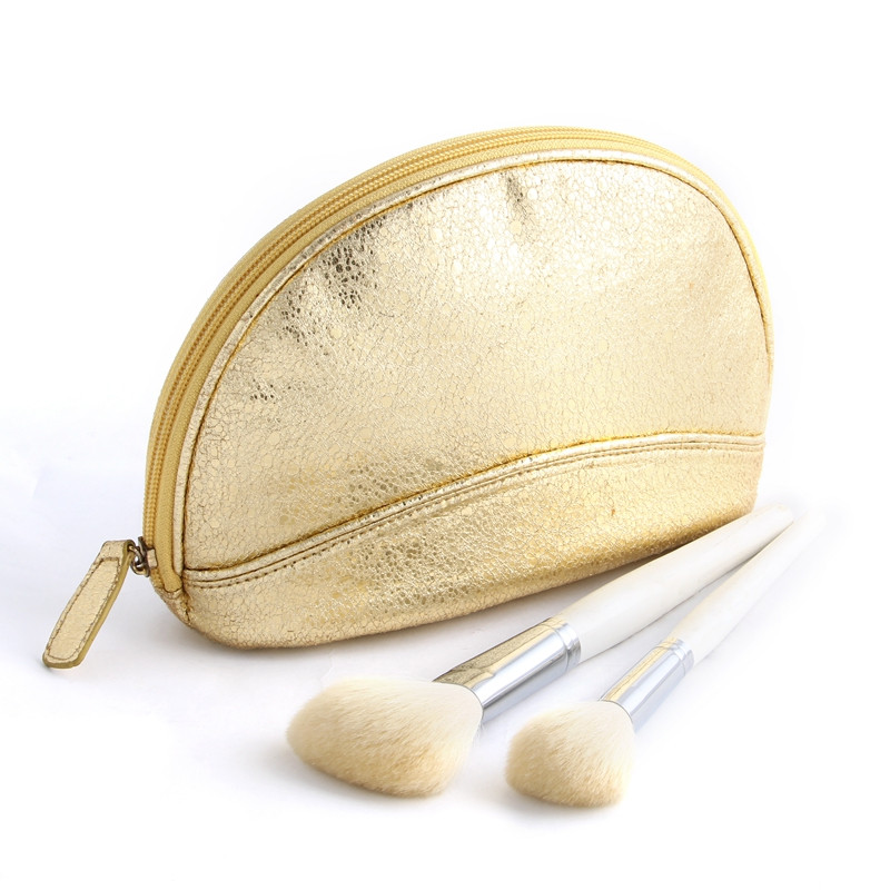 FuYuan fashion luxury pouch cosmetic bag rose gold makeup bag for ladies
