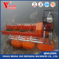 China cheap price alluvial gold dredging boat