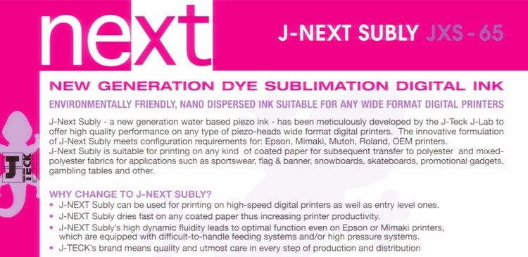 Factory discount price dye sublimation italy j-teck sublimation ink mimaki