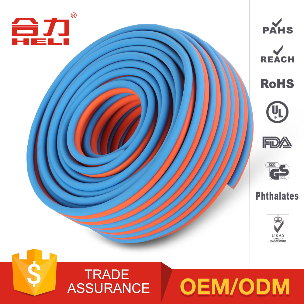 "blue and red ,green and red ,5/16"",1/4"",3/8""(6.5mm/8mm/10mm)PVC twin line welding hose, oxygen and acetylene hose"