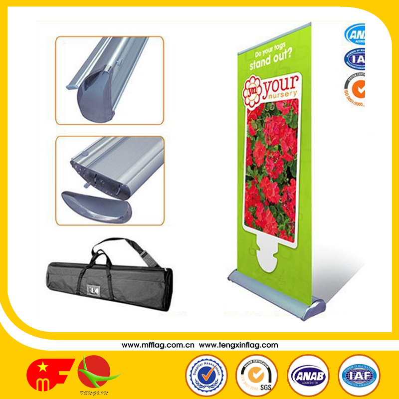 custom promotional advertising folding roll up banner stand display