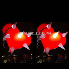 inflatable lights heart balloon/ heart helium balloon/ heart advertising balloon with LED lights for event party