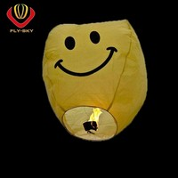 2016 wholesale chinese flying sky lantern no fire for fun and wishing