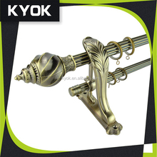 Royal curtain finial, decorative curtain rod end cap,curtain pipe/curtain rail/eyelet for wholesale