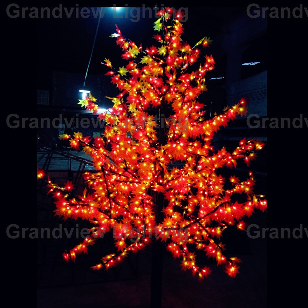 Outdoor Colorful Toronto Maple Leaf Christmas Tree With