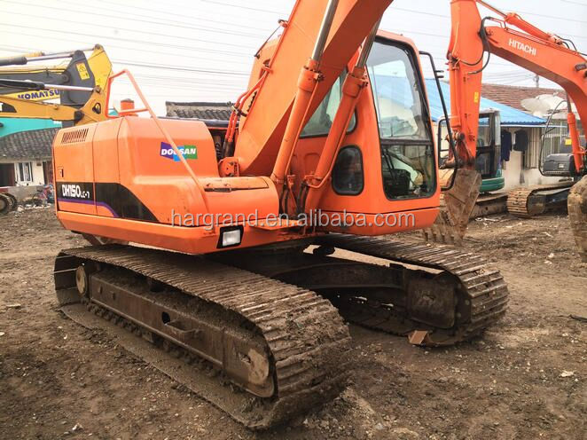 15 Ton Used Doosan Crawler Excavator DH150LC-7 Original From Korea