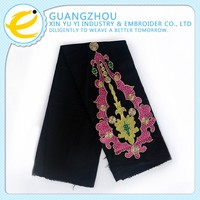 Unique wholesale rhinestone decorated guipure lace fabric with sequins