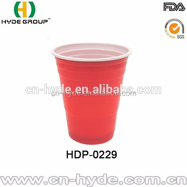 Plastic type PS 16oz disposable cups plastic red cups party cups for beer