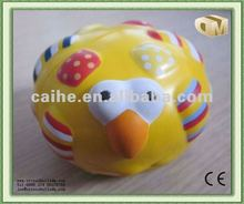 PU anti-stress foam yellow birds for toys and promotions