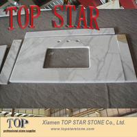 Extra White Statuario Calacatta Gold Marble Vanity tops for bathroom