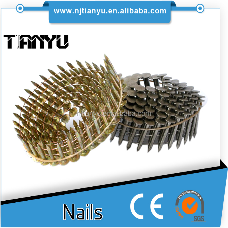 0.76mm crown diameter zinc Roofing collated Coil Nails used for max
