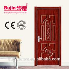 Cheap price China Manufacturer Modern and Luxury Wood Swing Solid Wood Double Paneled Interior Door Design