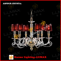 New modern red crystal chandeliers Wholesale with Clear Crystal