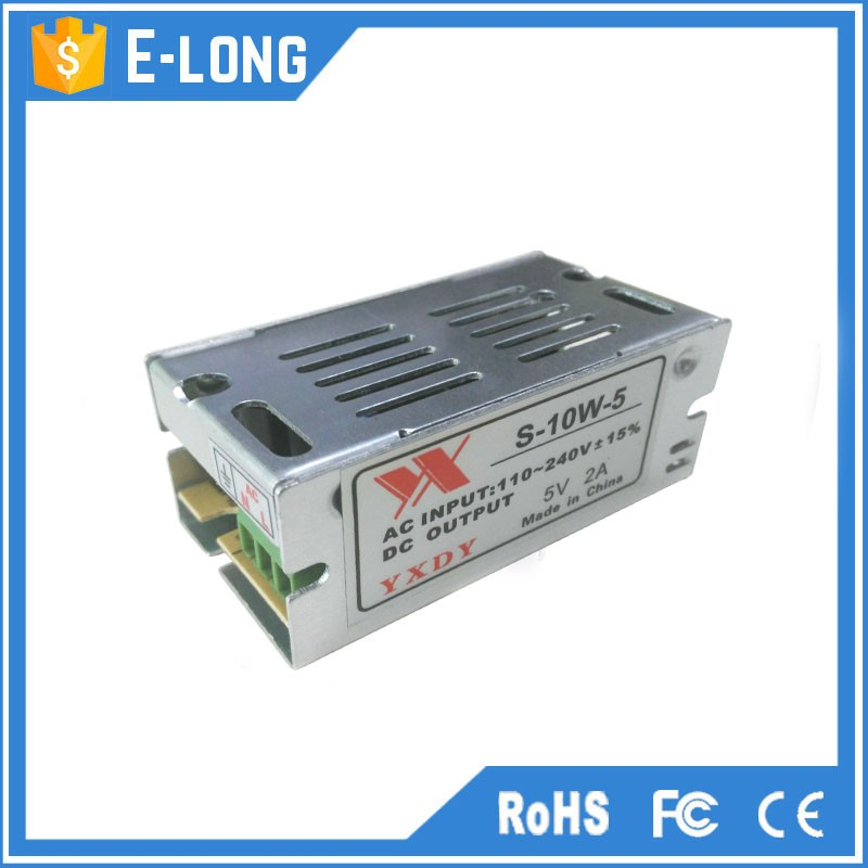 Switching power supplu 5v 2a single output for led light are in hot selling