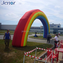 Wedding colorful inflatable rainbow arch for garden decoration