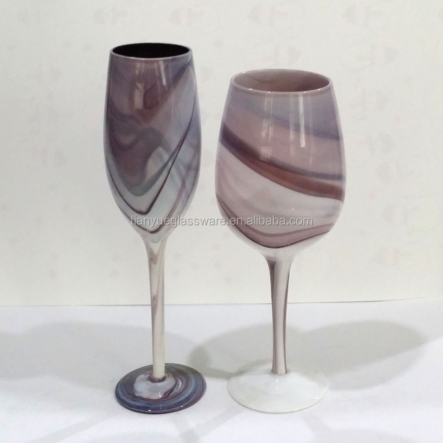Marble Wine Glass Goblet Cup