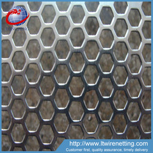 Best price galvanized hexagonal perforated sheet for sale