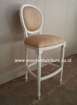 Bar stool french style furniture antique reproduction bar for Classic reproduction furniture