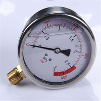 Specially designed Hot Sale High Quality clear to read lightweight miniature 316ss oil filled lpg vacuum pressure gauge