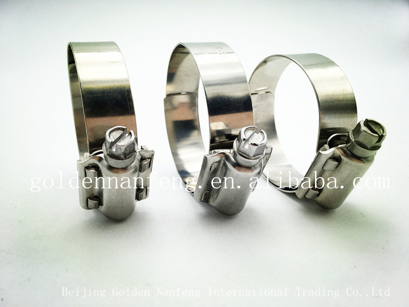 American Style Perforated Stainless Steel Heavy Duty Hose clamps