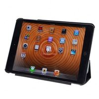 360 degree rotating tan leather wallet case cover for apple ipad