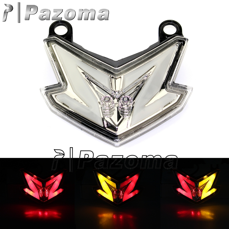 In stock! Pazoma Clear Integrated Motorcycle LED Brake Taillight Fits For 2013-2014 Kawasaki Z800
