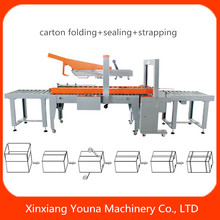 auto adhesive tape carton box sealing machine with cover folder