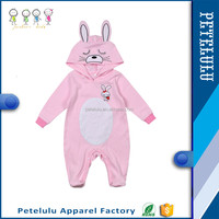 2016 Petelulu Cute Rabbit Modern Design Baby Clothing Newborn Baby Suits Long Sleeve Infant Babywear Baby Romper Clothes