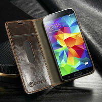 Fashion original wallet leather case for samsung galaxy s5 mini hot selling