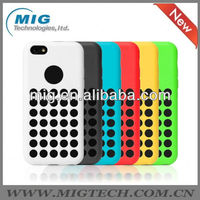 Dot Hole silicon case for iphone 5c ,for apple iphone 5c case