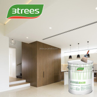 3TREES Non-toxic Low VOC Waterproof & Washable Water Based Interior Wall Paint(free sample)