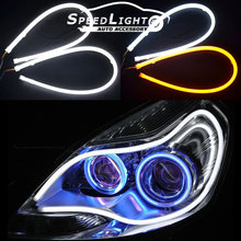 New Arrival 12V 60CM 85CM Flexible DRL Running Daylight For Cars With Turn Signal Function