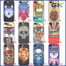 [GK] 3D Pattern Skin With Iron Piece TPU Cover For iPhone 7 Plus Cell Phone Case