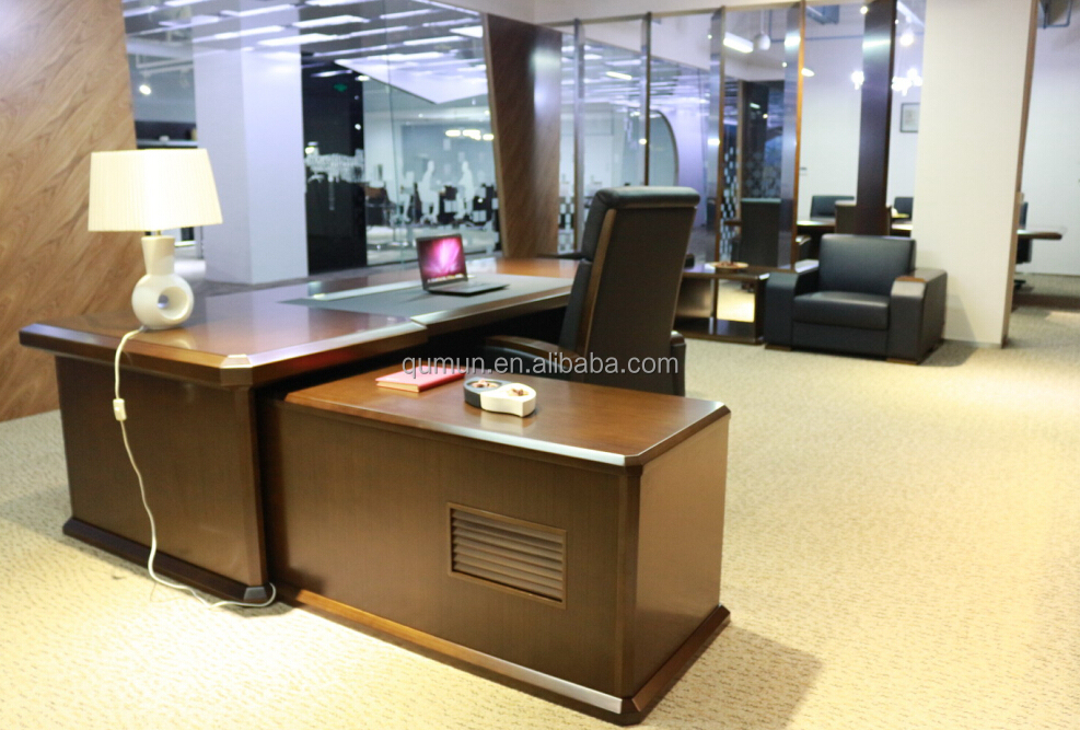 Big office desk large executive desk high end desk luxury office furniture made in china buy - Luxury office desk ...