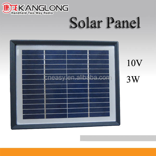 3W high efficiency polycrystalline solar panels for walkie talkie