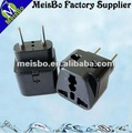 Black european 2 round pin CE plug socket switch multi jack