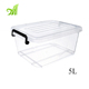 5L Eco Friendly Transparent Clear Plastic Storage Box With Lock Plastic Storage Box