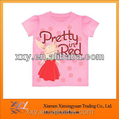 Girls T Shirt Cute Beautiful Printing T-Shirt Made In China Clothing For The Children direct buy china